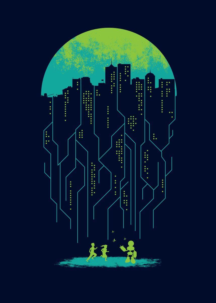 'Electricity' Metal Poster - Steven Toang | Displate