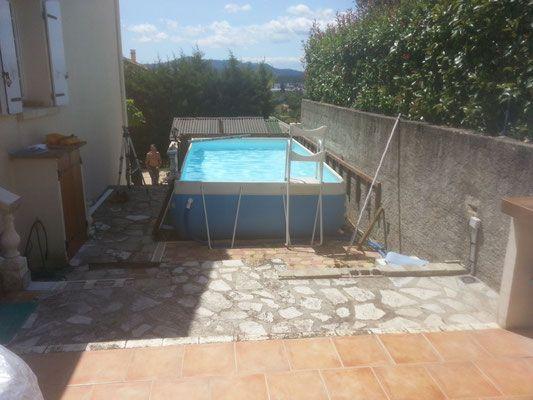 Piscine laghetto CLASSIC habillage bois piscine Pinterest - amenagement autour piscine hors sol