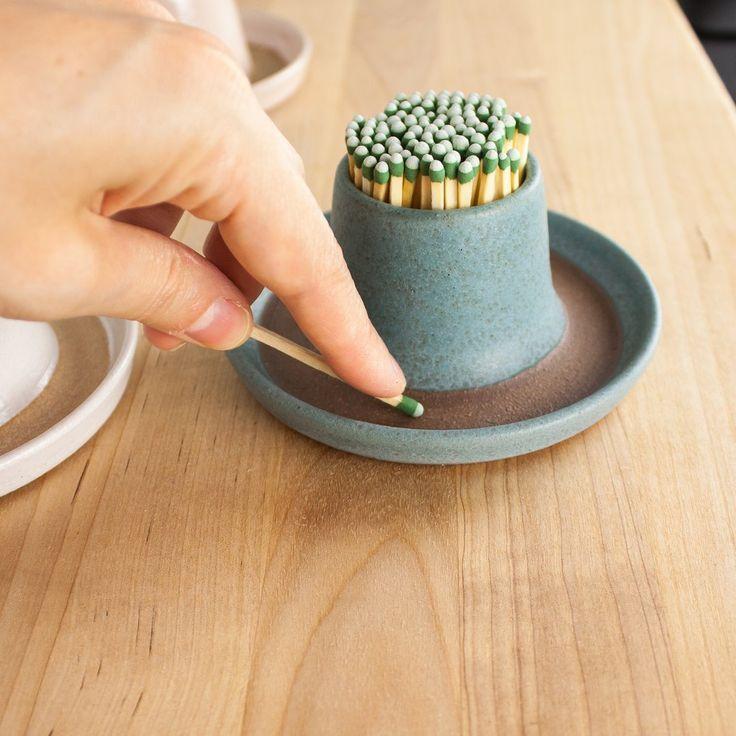 Stone Blue Match Striker #ceramicpottery