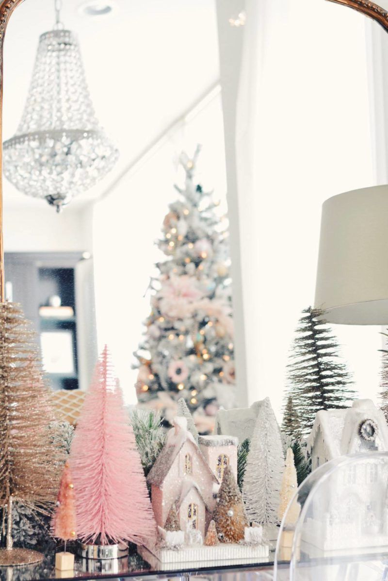 Holiday Home Tour - A Pink Christmas | Pink christmas, Holidays and ...
