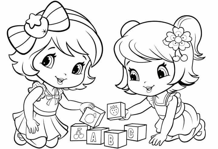 - Baby Strawberry Shortcake And Cherry Jam Cute Coloring Pages, Disney  Coloring Pages, Coloring Books