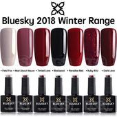 Details zu Bluesky WINTER RANGE 2018 UV-LED tränken das Gel Nagellack-frei Porto 10ml – Bluesky Shellac Gel Nagellack – NailiDeasTrends