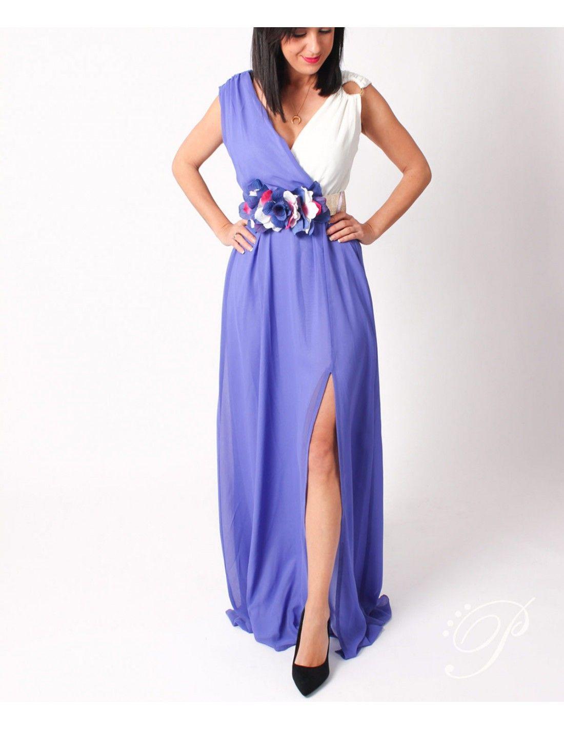 75cccb71bf531 Vestido Flavia - Increíble vestido de gasa en 2 colores malva y blanco.  Lleva escote