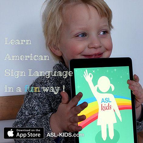 """Having fun with the iPad app """"ASL kids fun in signing"""