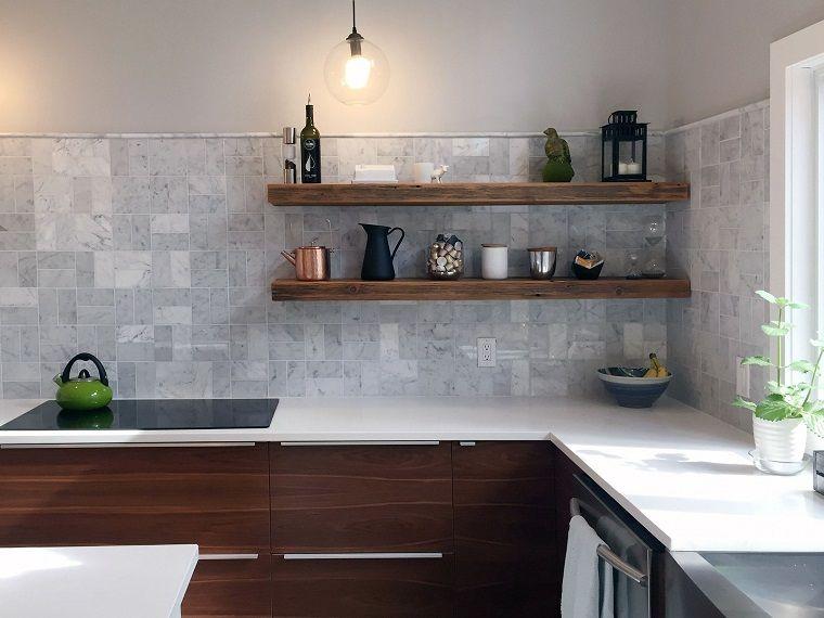 arredamento-cucina-moderna-mensole-rustiche | INTERIOR ...