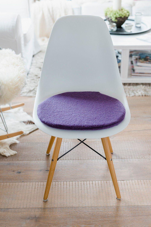 Stuhlkissen in flieder passend für eames chair limitiert eames
