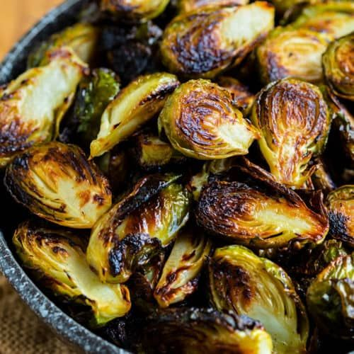 This easy roasted brussels sprouts recipe is so flavorful with a touch of honey and an optional add