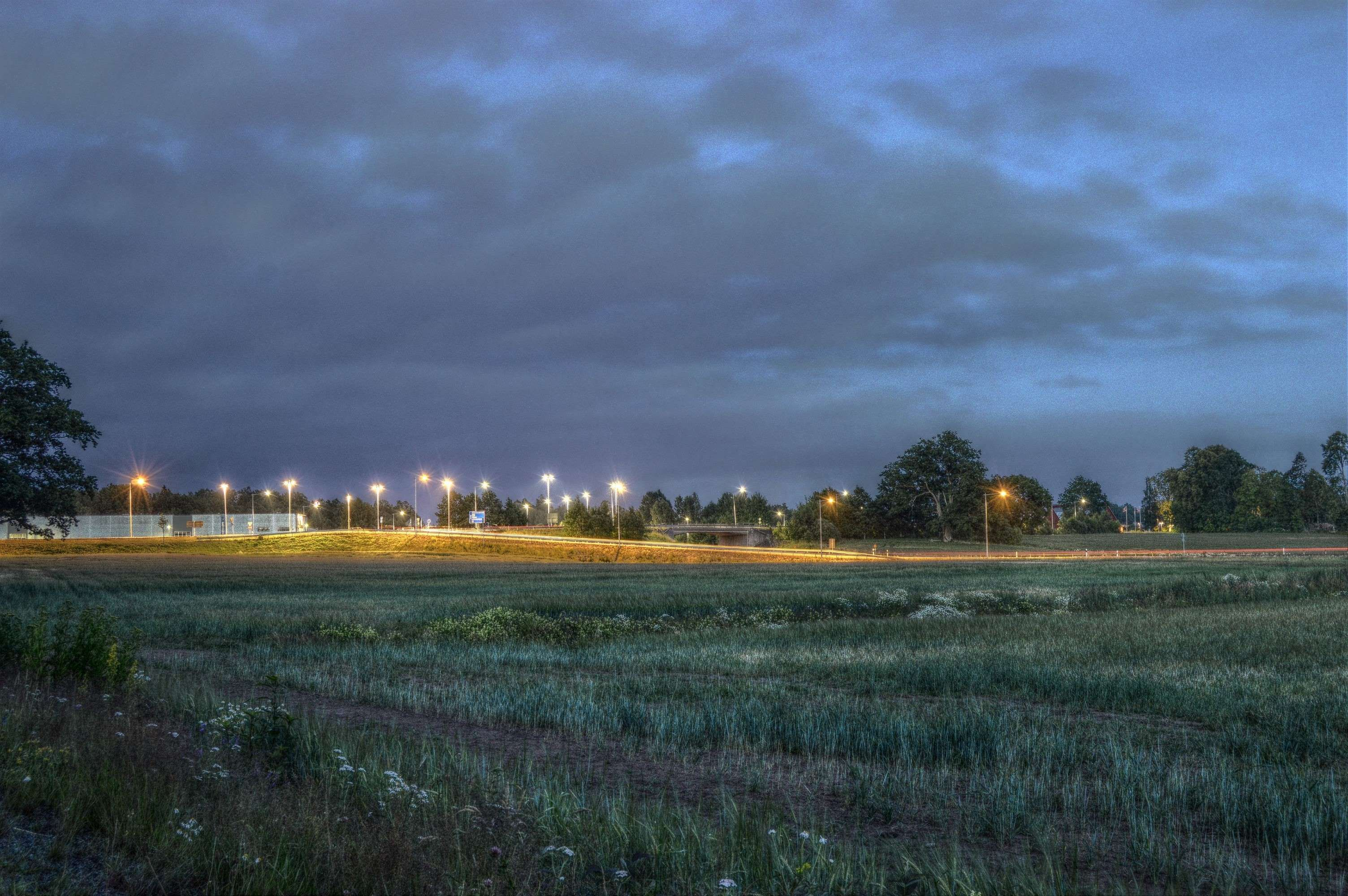 grass field at night. #evening #field #forest #grass #hdr #light #lights #nature Grass Field At Night