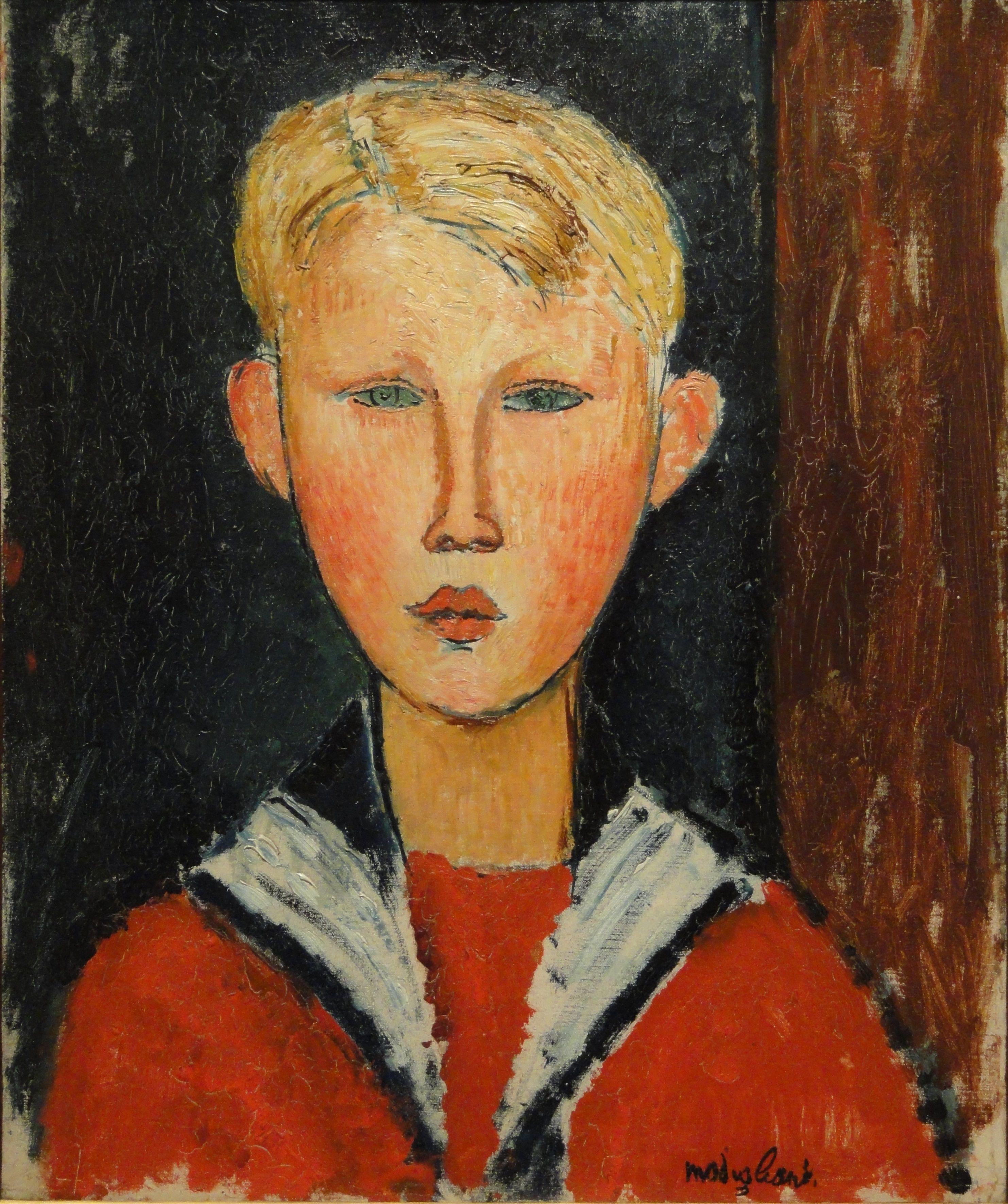 The Blue eyed Boy - Amedeo Modigliani | Художники, Амедео модильяни,  Еврейское искусство