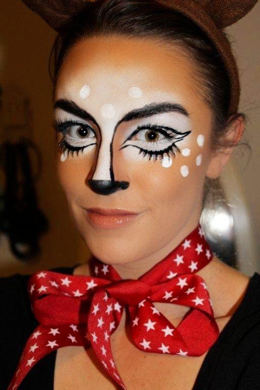 Reindeer Makeup Reindeer Face Makeup Reindeer Party B