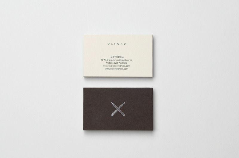 Oxford Pencils Tomas Sabbatucci Business Card Branding Business Cards Creative Business Card Design