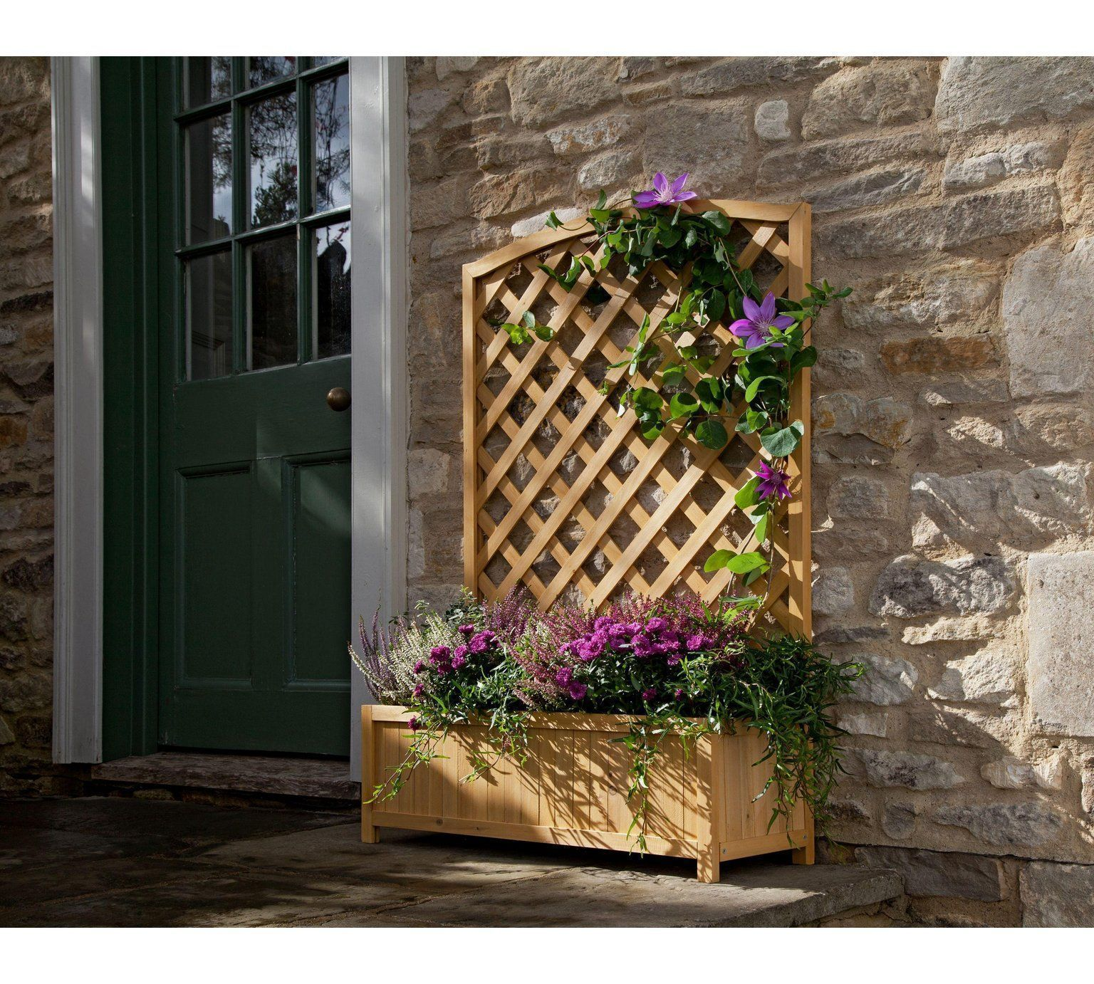 Buy Lattice Wooden Planter - Large at Argos.co.uk, visit Argos.co.uk on wooden bollards, wooden bookends, wooden plows, wooden pedestals, wooden decking, wooden bird houses, wooden troughs, wooden home, wooden garden, wooden trellis, wooden toys, wooden arbors, wooden bird feeders, wooden rakes, wooden greenhouses, wooden plates, wooden bells, wooden benches, wooden chairs, wooden pavers,