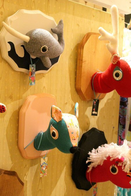 love these stuffed animal heads kids rooms pinterest animal heads animal and felting. Black Bedroom Furniture Sets. Home Design Ideas