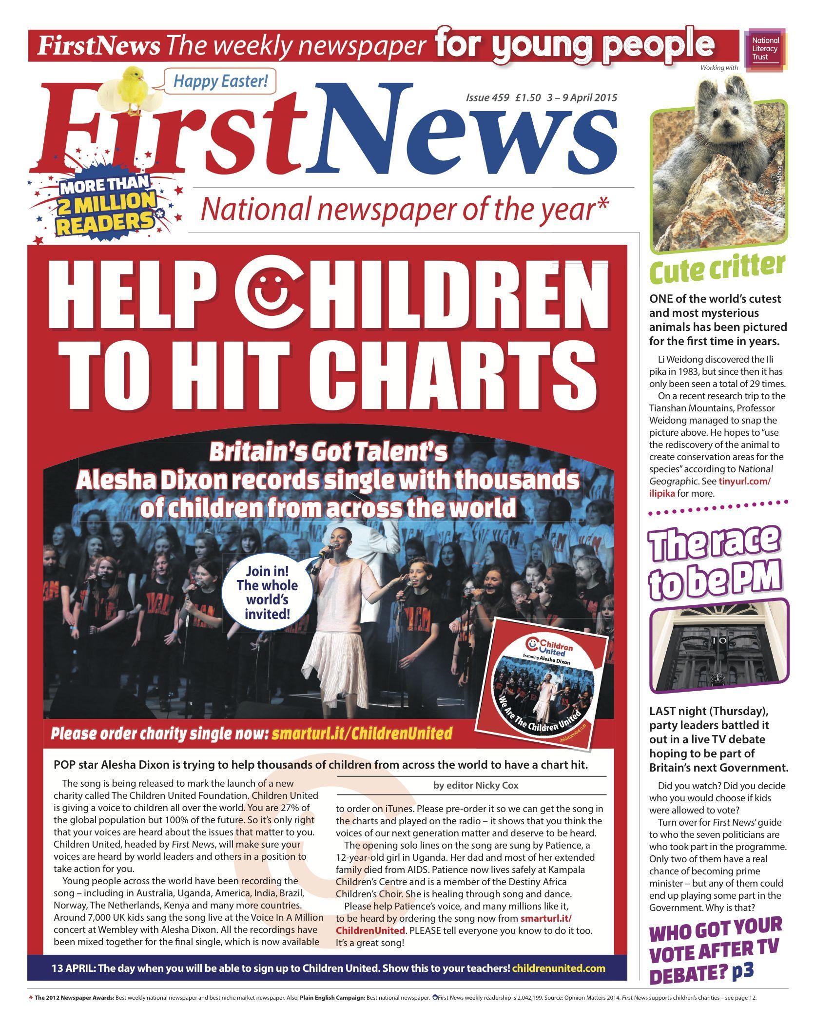 Newspaper Helping Kids Britain Got Talent Cover