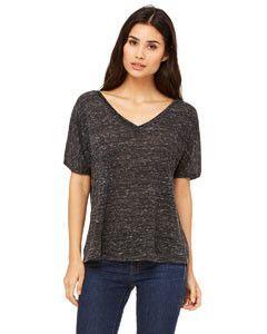 6355893d048dd Bella + Canvas Ladies Slouchy V-Neck T-Shirt 8815 Black Marble ...