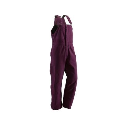 berne women s extra large short plum cotton washed on womens insulated bib overalls id=13005