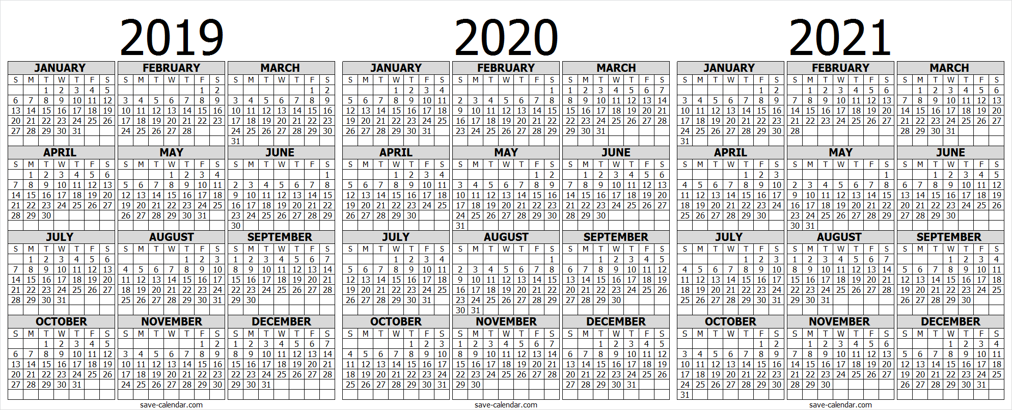 image about 2021 Calendar Printable known as 2019 2020 2021 Calendar in the direction of Print 2018 Calendar 2021