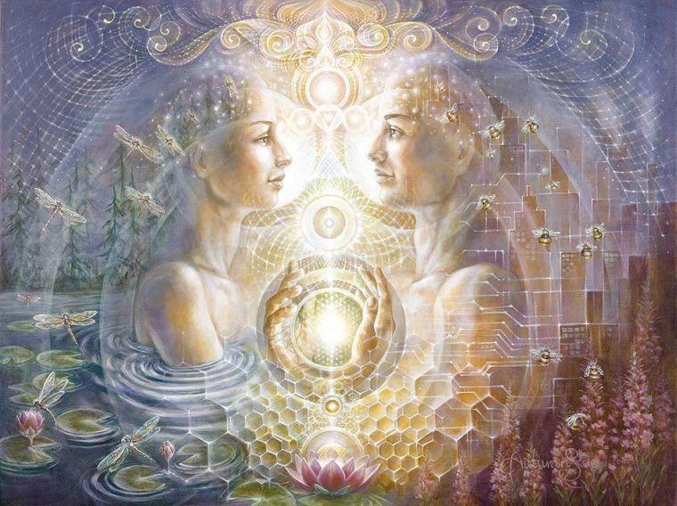 Twin Flame Marriage of Souls | Twin Flames | Twin souls, Art
