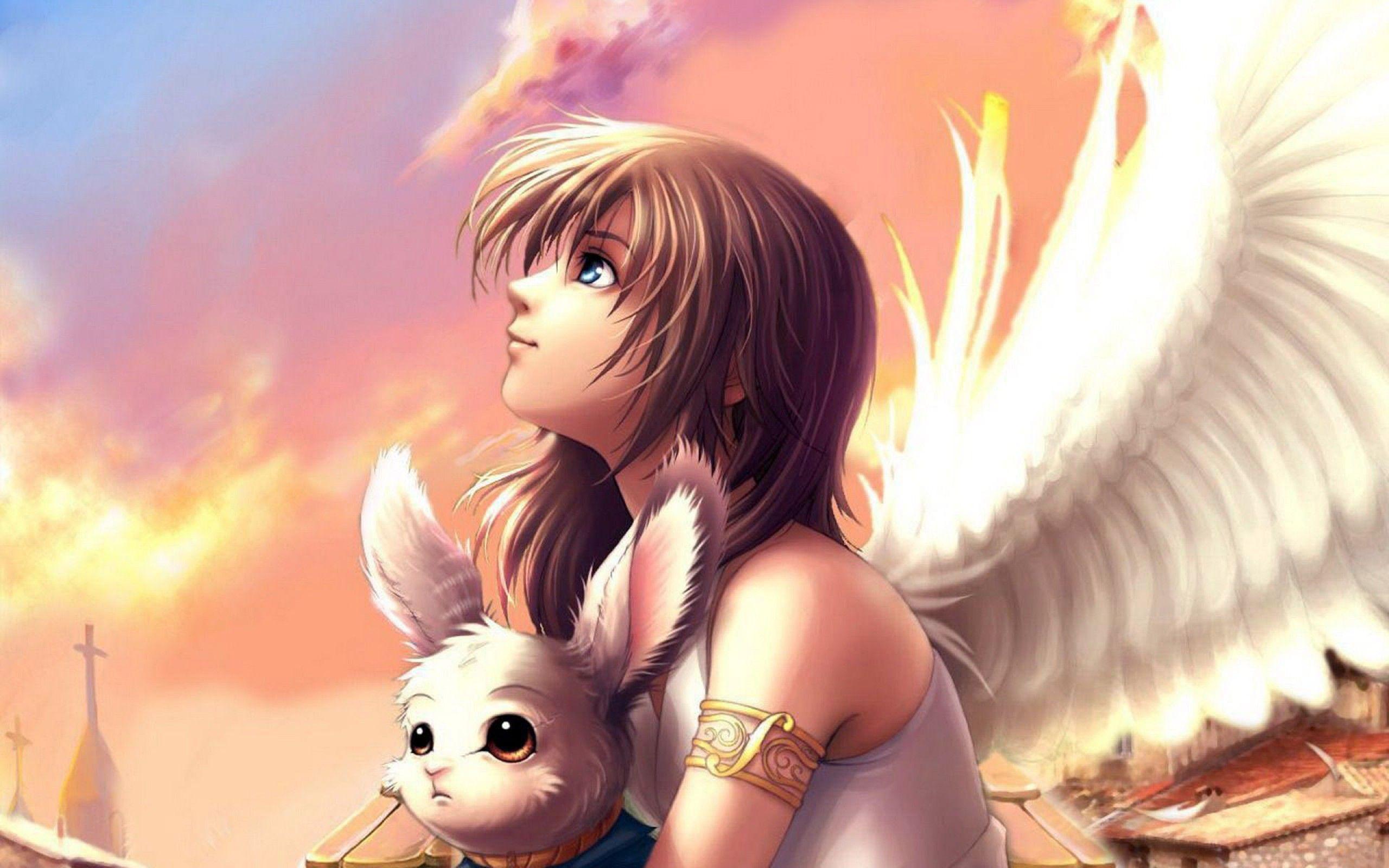 Anime Angel Wallpaper Desktop Background Anime Backgrounds