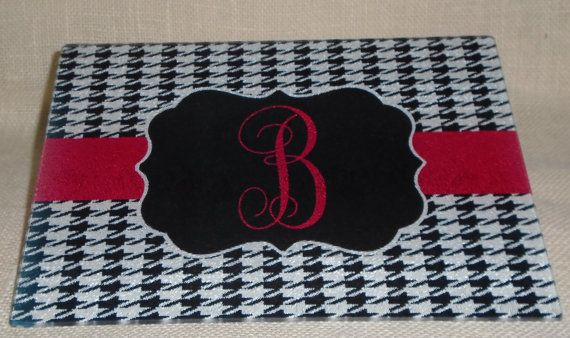 Houndstooth Cutting Board by SDdoodles on Etsy