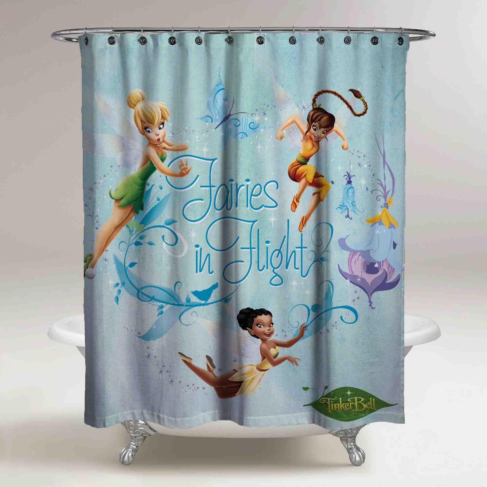 Tinker Bell Disney Princess Fairies Custom Shower Curtain Print On