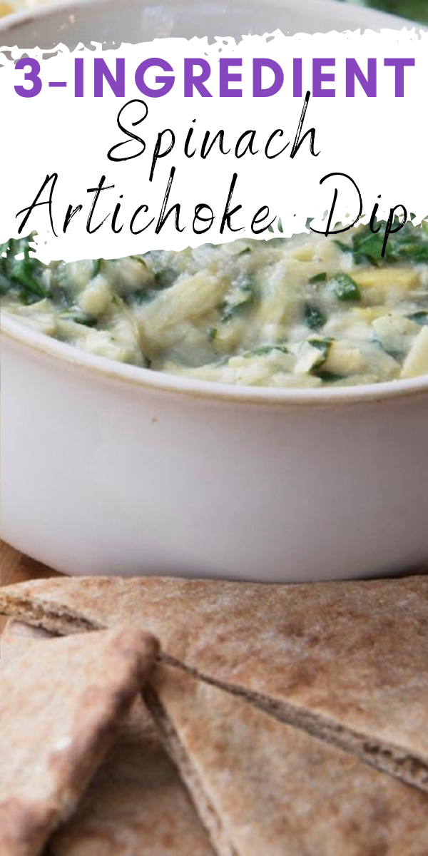 The Best Spinach Artichoke Dip With Only 3 Ingredients In 2020