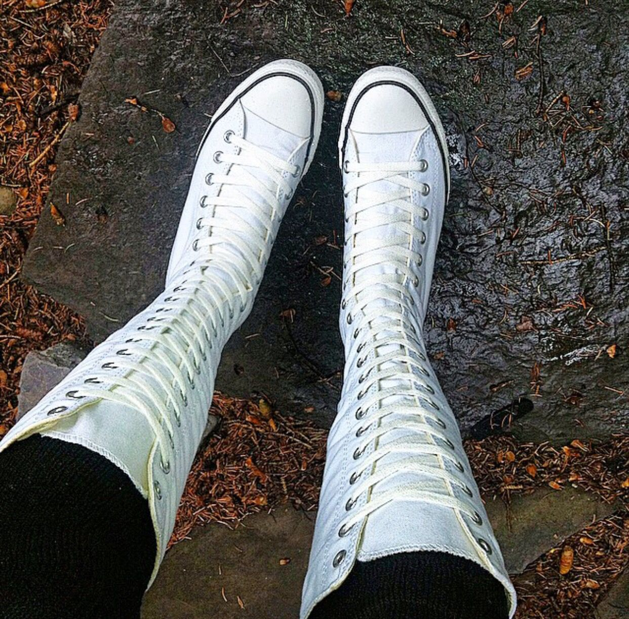 68ac22d69d34 Day 1 of my journey to New Orleans I was wearing my new white knee high