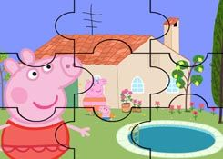 JuegosdePeppacom  Juego Rompecabezas Piscina de Peppa Pig