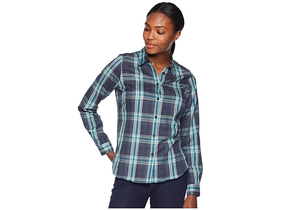 bd9a4d0c5ae Fjallraven Ovik Flannel Shirt (Navy) Women s Long Sleeve Button Up. Relax  by the