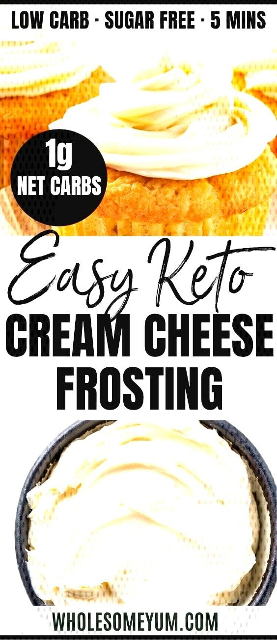 Low Carb Keto Cream Cheese Frosting Recipe Without Powdered Sugar Low Carb Keto Cream Cheese Frosti