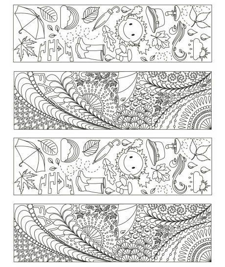 Kitap Ayraci Kaliplari 2 Boyama Sayfalari Adult Coloring Pages