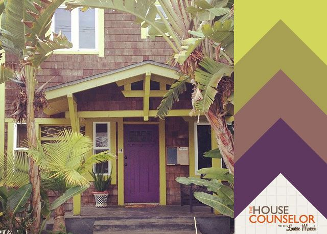 Hue Knew Curb Appeal With A Purple Front Door House Counselor House Paint Exterior Exterior Paint Colors For House Exterior Paint
