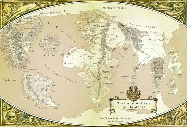 Warhammer Fantasy World | Gaming Maps in 2019 | Pinterest
