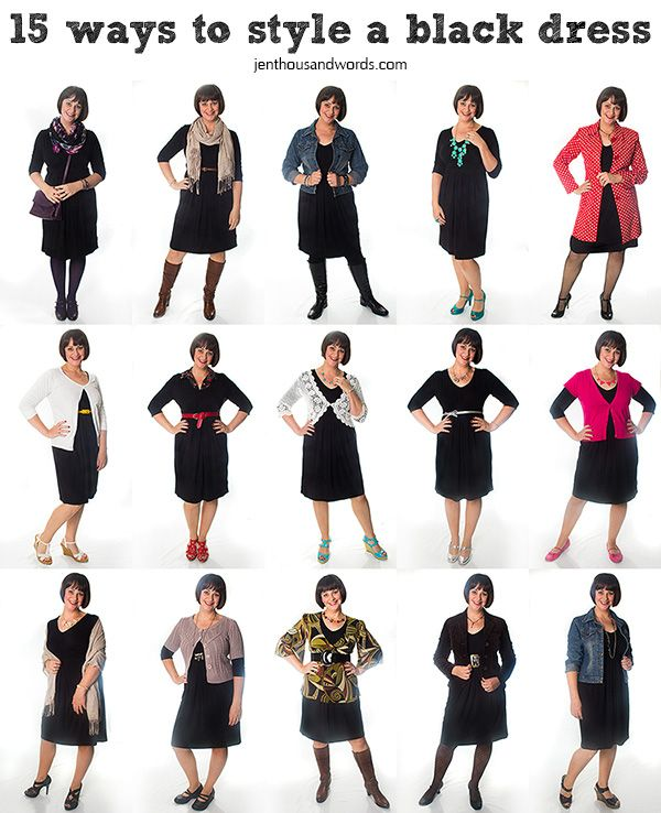 15 ways to style a black dress Cute blogger  cute ideas