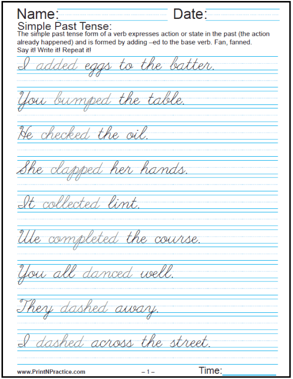 Printable Handwriting Worksheets ⭐ Manuscript And Cursive | Home ...