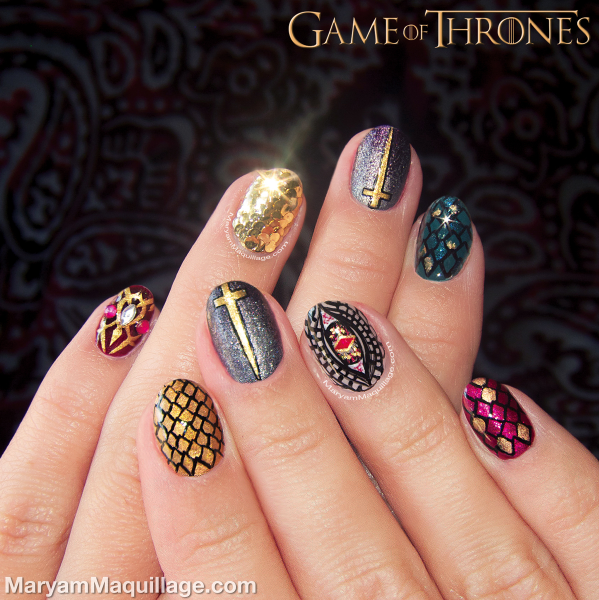 Maryam maquillage game of thrones nail art my nailart maryam maquillage game of thrones nail art prinsesfo Choice Image
