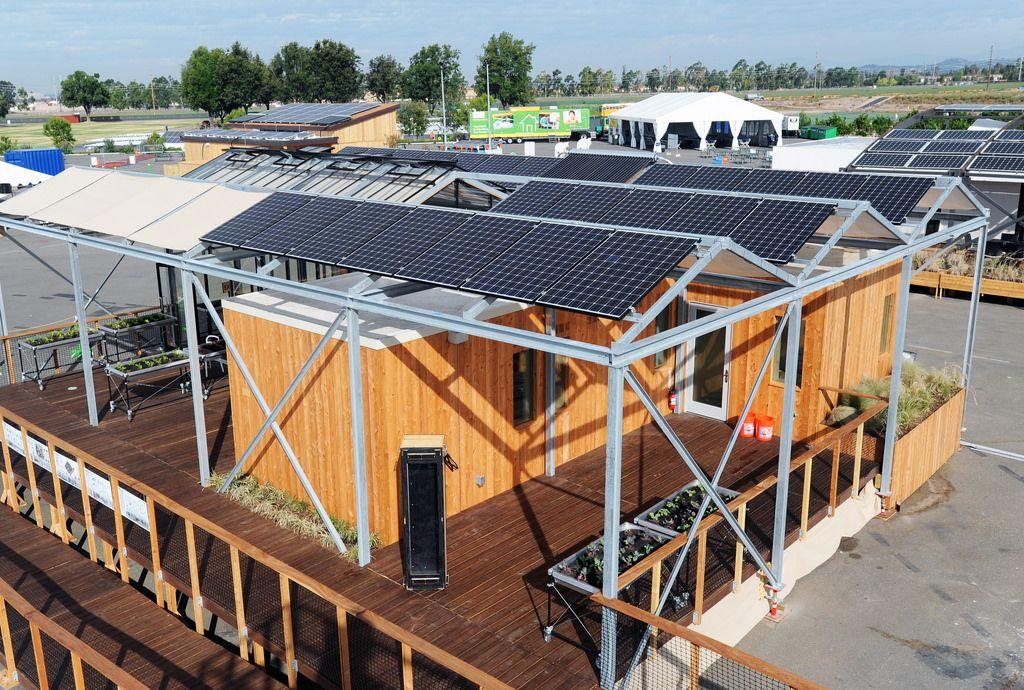 Pv Arrays Solar House Energy Efficient Buildings Solar