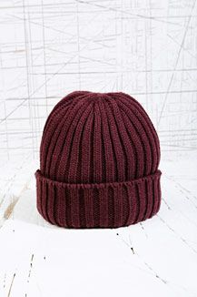 Watchman Beanie Hat in Burgundy