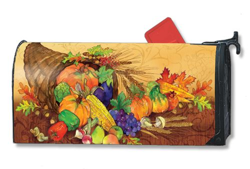 Magnet Works Mailwraps Mailbox Cover - Bountiful Harvest Design Magnetic Mailbox