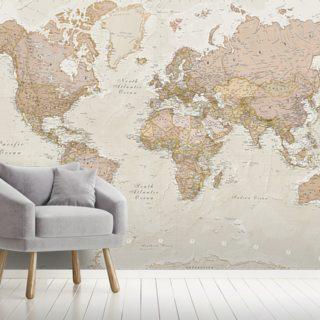 Antique World Map #worldmapmural