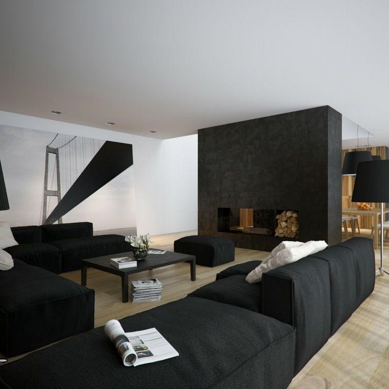 Déco salon noir et blanc  une dualité complémentaire Salons, Deco
