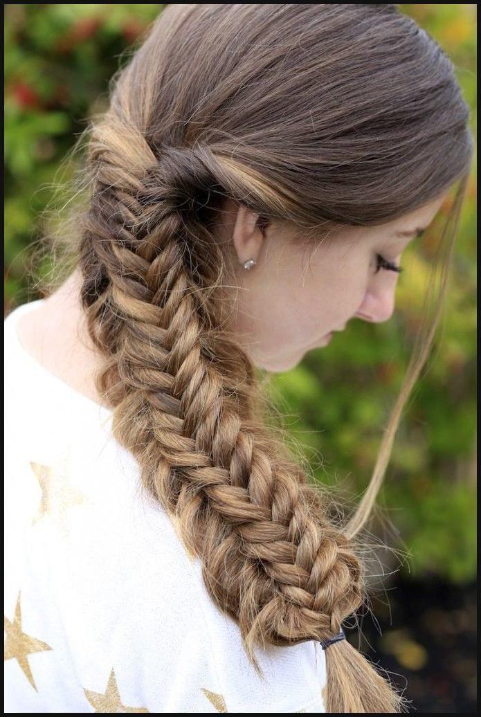 Messy Split Fishtail Braid   Cute Girls Hairstyles   Cute Girls ...
