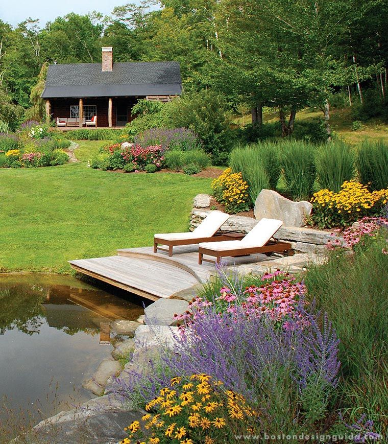 A blade of grass landscape design and maintenance in for Landscaping around a small pond