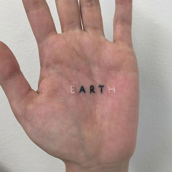 Minimal Palm Tattoo