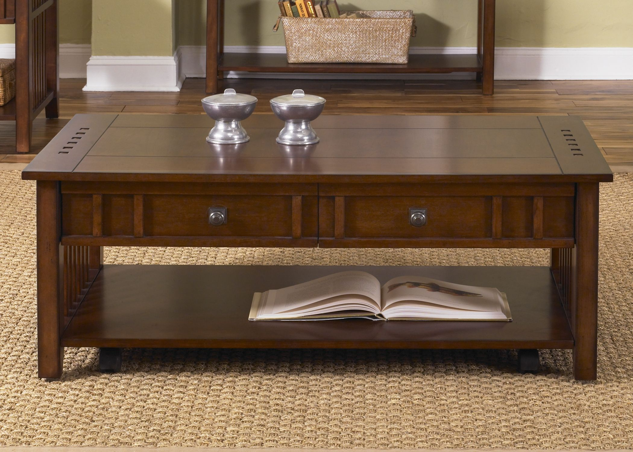 Cocktail Table In 2020 Liberty Furniture Cocktail Tables Living Room Coffee Table With Drawers