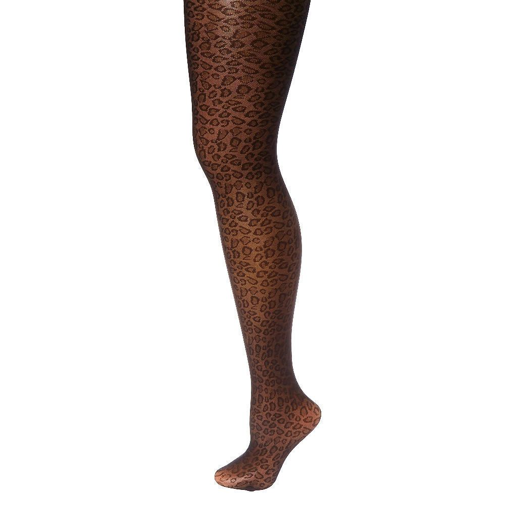 claire's halloween black leopard print tights ladies size s/m new in