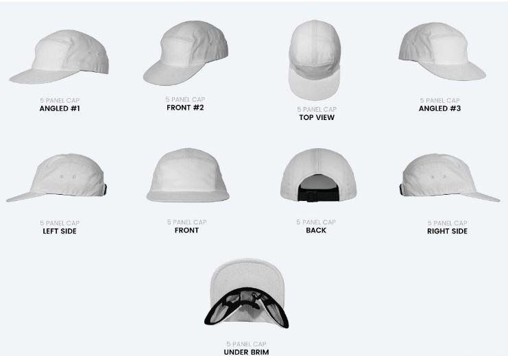 5 panel blank cap photoshop templates creativephotography