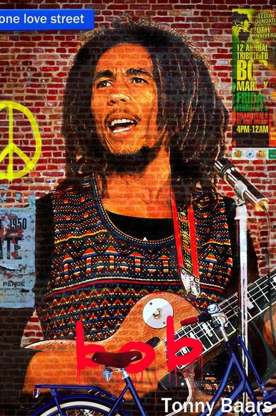 Bob marley on the wall my work pinterest bobs on for Bob marley wall mural