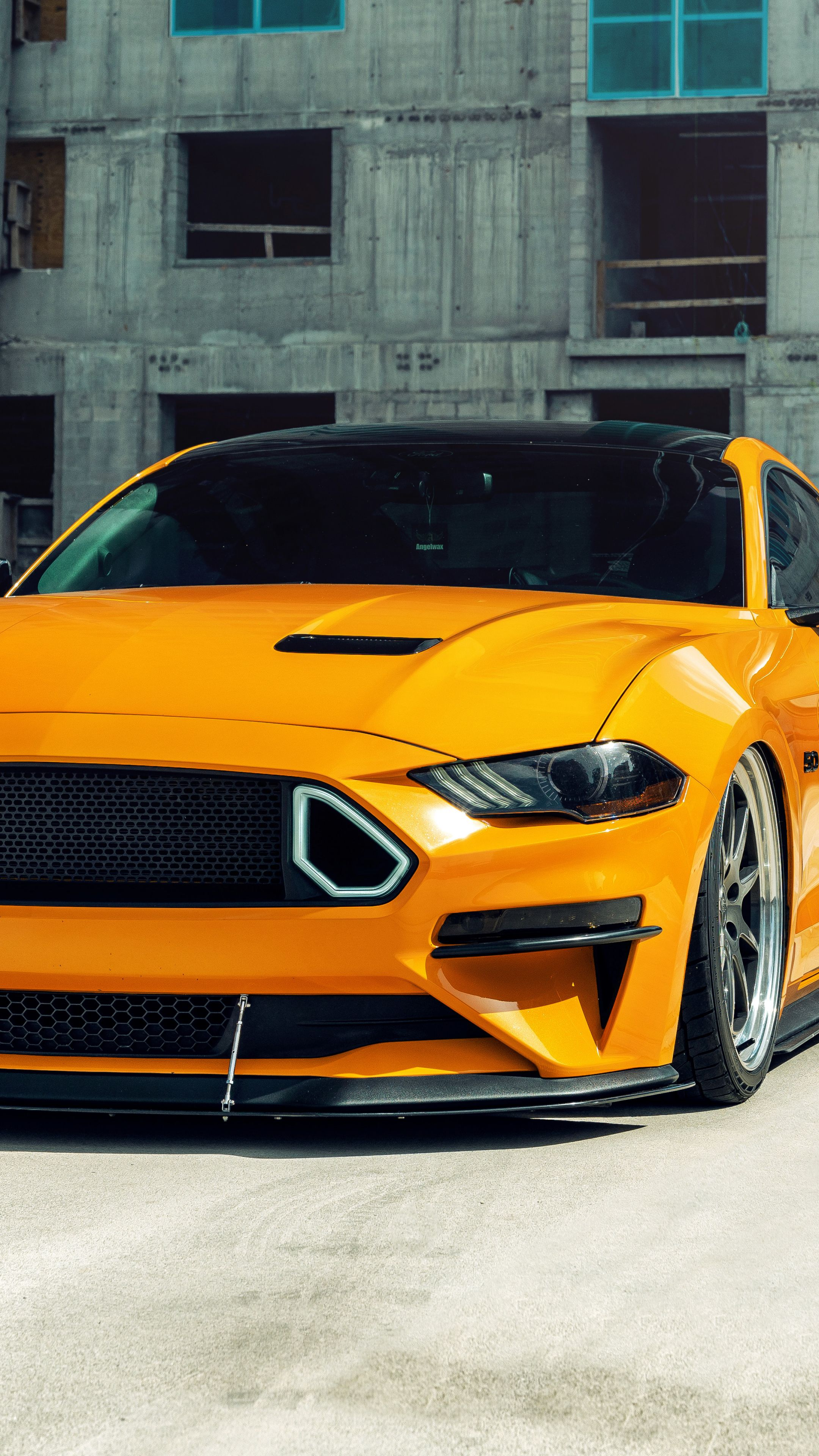 2160x3840 Yellow Ford Mustang Gt 2020 Wallpaper In 2020 Mustang Gt Ford Mustang Gt Mustang