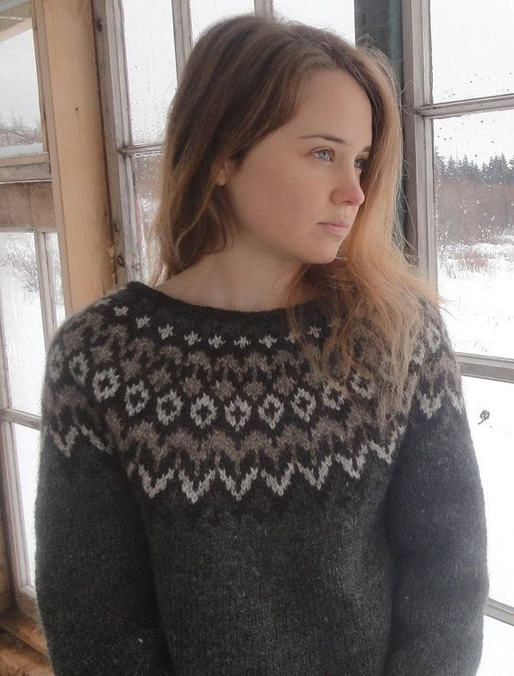 Traditional Icelandic Sweater / Lopapeysa Unisex MADE TO ORDER  Samme mønster som Berit strikket